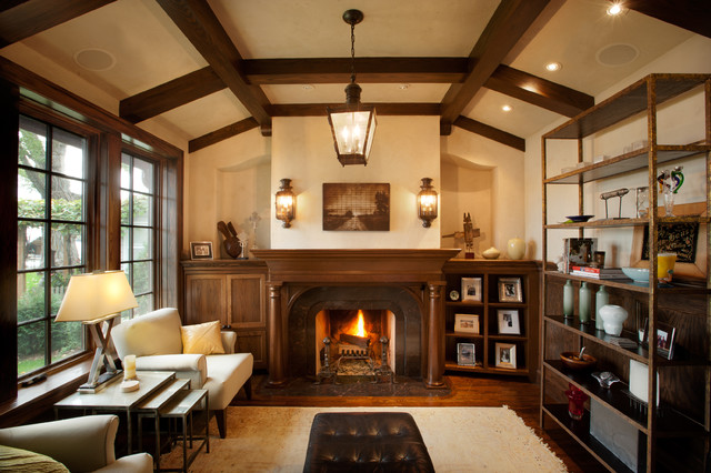 Tudor On The Point Traditional Living Room Minneapolis