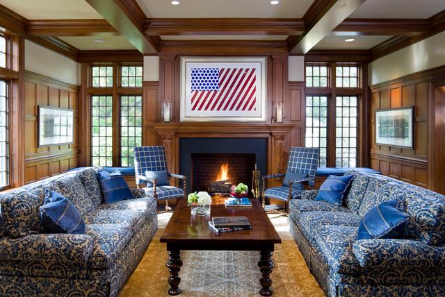 Tudor Renovation Traditional Living Room Boston By