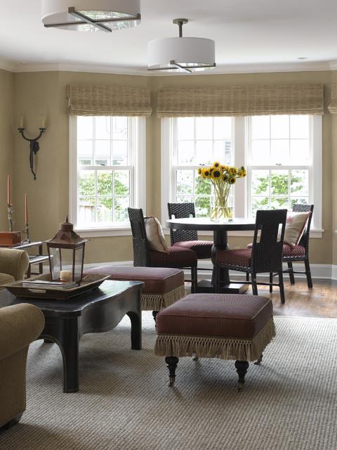tudor revival transitional living room minneapolis