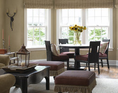 Tudor Revival transitional living room