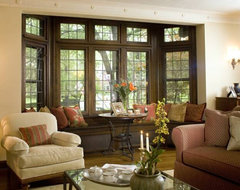 Tudor Revival traditional-living-room