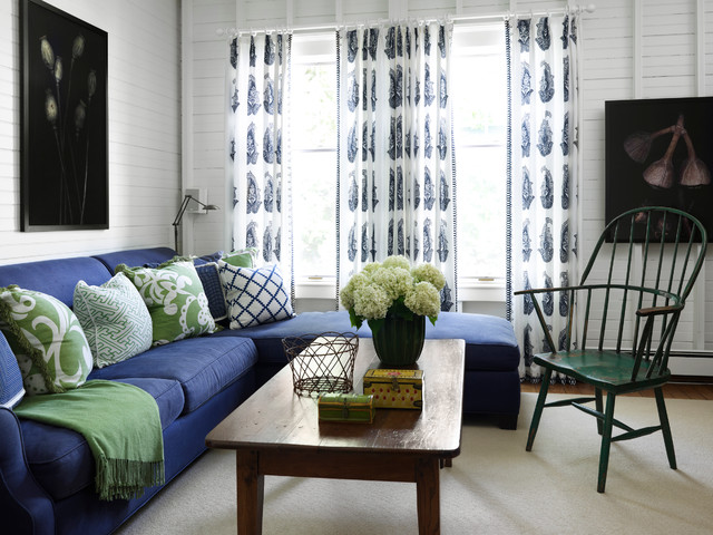 Inspiration For A Mid Sized Beach Style Living Room Remodel In Chicago With White Walls