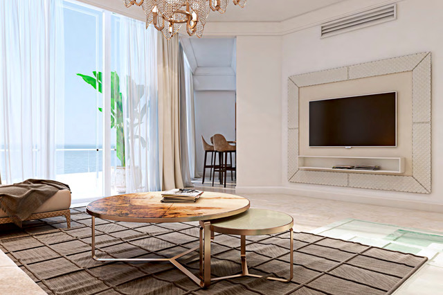 Turnberry modern apartment modern living room miami for 1111 dolphin terrace corona del mar