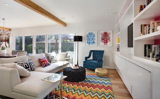 turquoise la interior design venice contemporary living room
