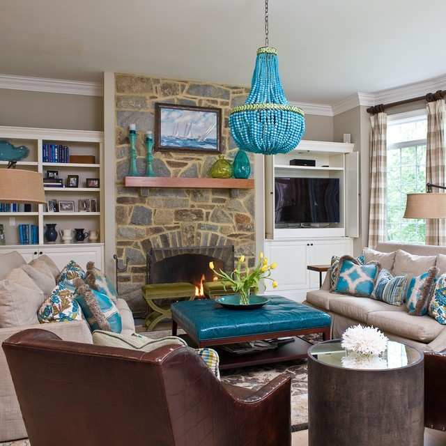 Turquoise : contemporary living room from www.houzz.com size 640 x 640 jpeg 113kB