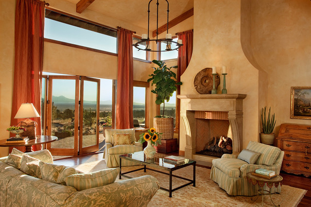 Tuscan Farm House / Brasada Ranch Traditional Living Room