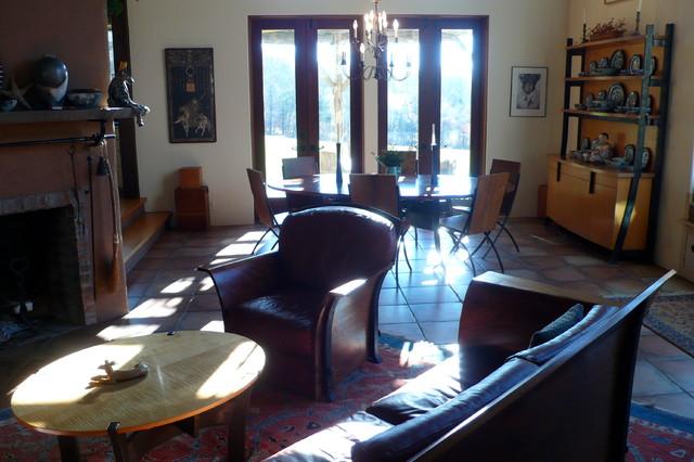 Tuscan Farm House mediterranean-living-room