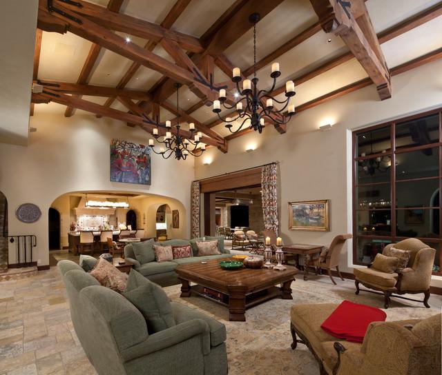 Tuscan Farmhouse 4 Mediterranean Living Room