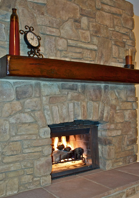 Tuscan Fireplace mediterranean-living-room