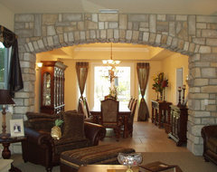 Tuscan house mediterranean-living-room