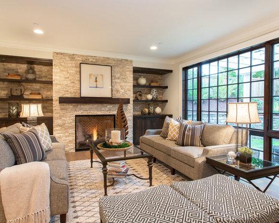 Mediterranean fireplace home design photos decor ideas for Mediterranean living room ideas