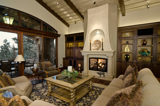 Tuscan In The Pines Mediterranean Living Room