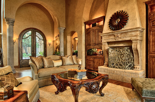 Tuscan stage decorations house furniture - Italian inspired living room design ideas ...