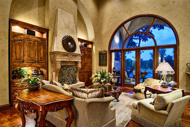 Tuscan living room traditional living room austin - Tuscan style decorating living room ...