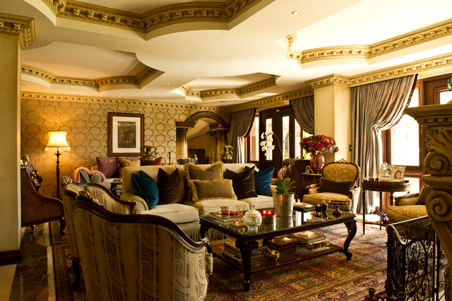 Tuscan Luxury Traditional Living Room Other By Nefertiti