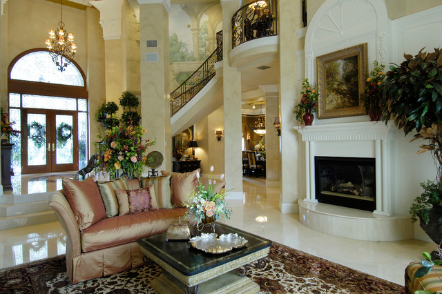 Tuscan Style Home Mediterranean Living Room Tampa By Decor Studio 1 Houzz Au