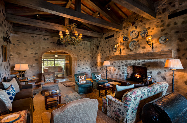 Tuscan Style in the Desert Mediterranean Living Room Phoenix