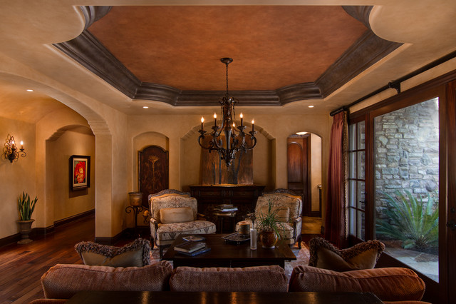 Tuscan style living room finish traditional living for Tuscan inspired living room ideas