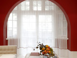 modern living room Houzz Tour: Sleek Addition With a Standout Stairway (36 photos)