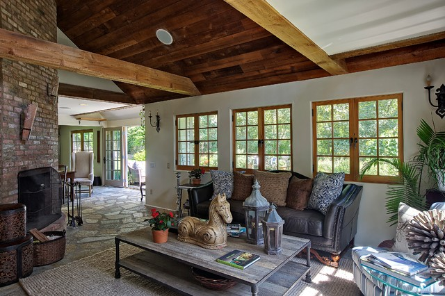 Tuxedo Park Residence Great Room eclectic-living-room