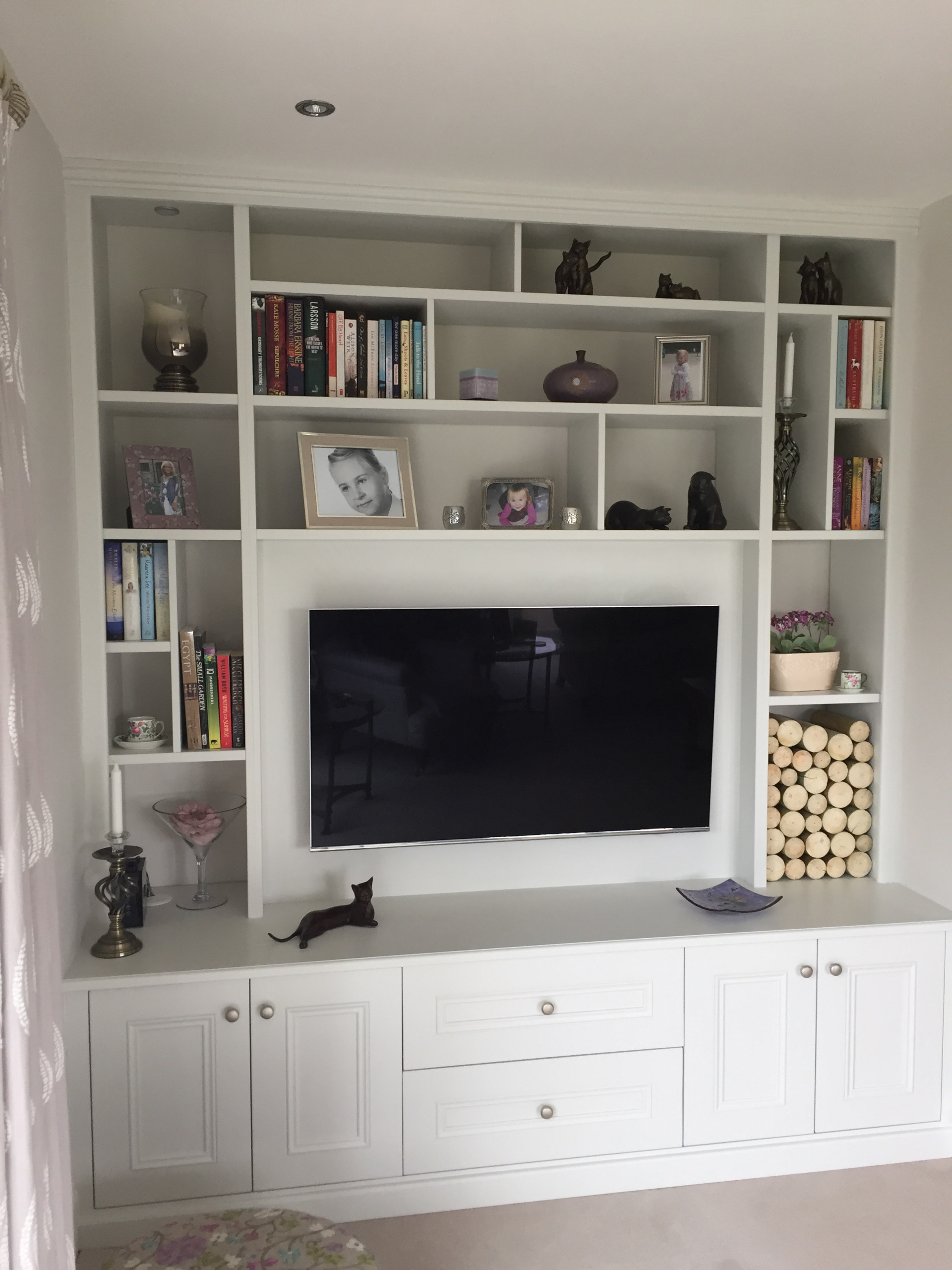 TV and Media Unit in a wide alcove