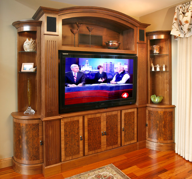 TV and media wall unit - Traditional - Living Room - New York - by ...