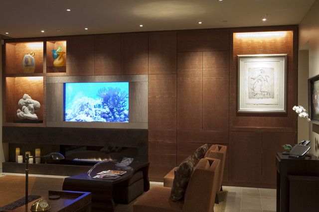Living room with aquarium interior decorating accessories for Aquarium interior designs pictures