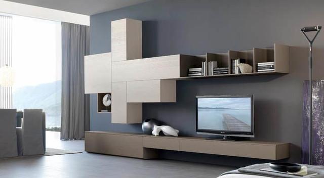 Tv bookcase sangiacomo italy moderno soggiorno - San giacomo soggiorni ...