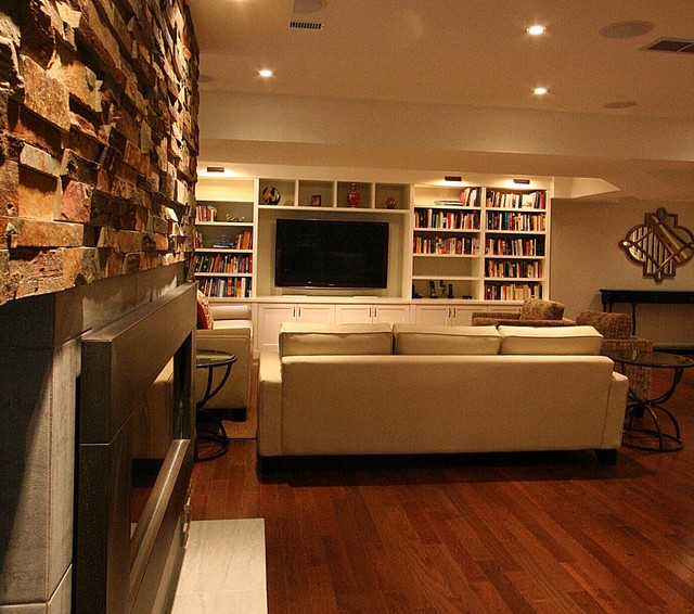 Tv Built In Surround And Bookshelves