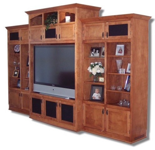 Tv cabinet traditional living room new york by for Living room divider cabinet designs