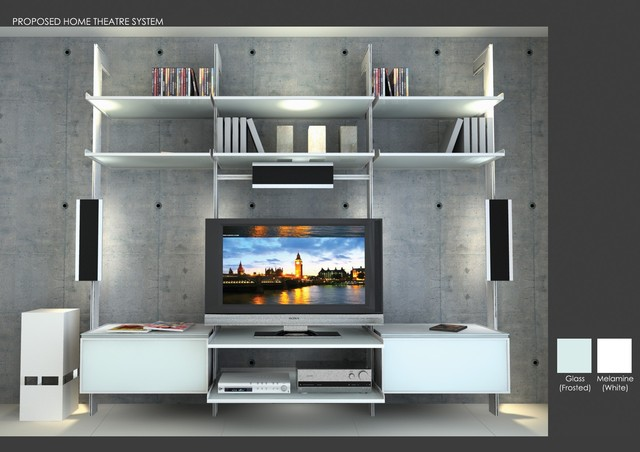 Tv Entertainment Center Modern Living Room Miami