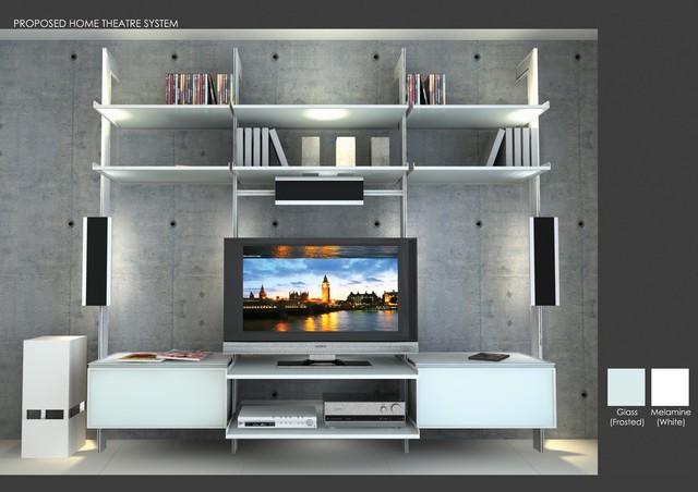 Tv Entertainment Center Modern Living Room Miami By Modu Home Llc