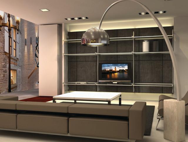 Tv Entertainment Center Modern Living Room Miami