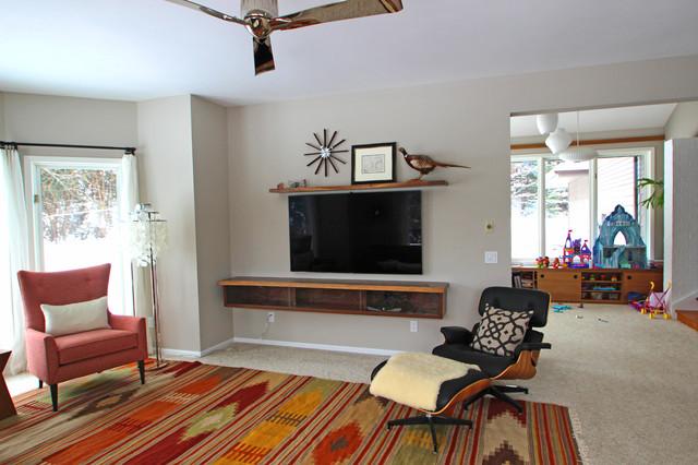 Tv Floating Cabinet Shelf Contemporary Living Room