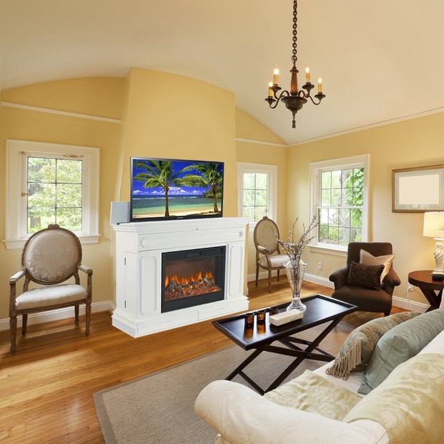 Houzz Living Rooms Traditional: TV Lift Cabinets In Homes