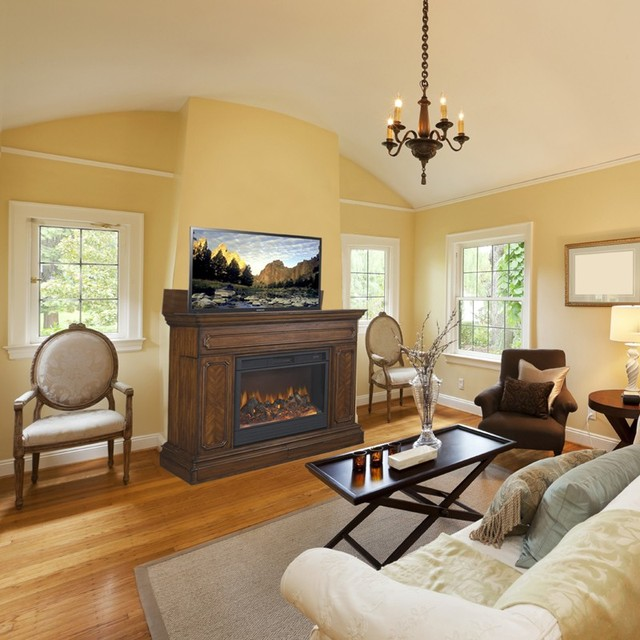 TV Lift Cabinets in Homes traditional-living-room