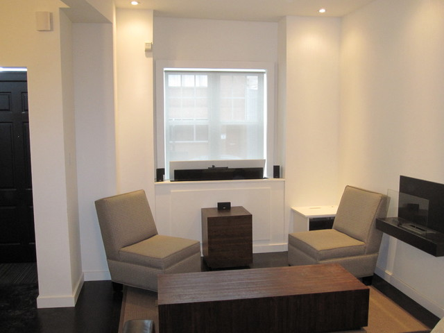 TV Lift In Front Of Window Contemporary Living Room Toronto By Tim Bo
