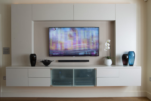 Tv lounge extension transitional living room london - How to decorate tv lounge ...