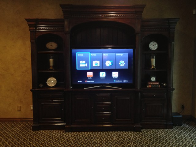 Tv Mounting Ideas Traditional Living Room Detroit By Feature Presentation Audio Video