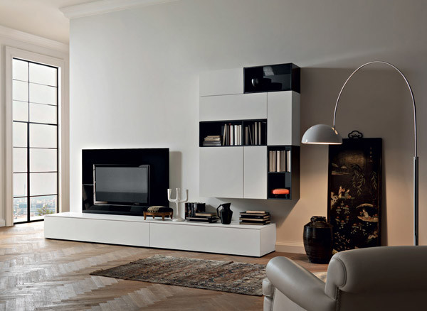 TV Unit And Hanging Unit Sangiacomo Italy Modern Living Room Boston