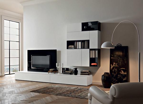 Tv Unit And Hanging Unit Sangiacomo Italy Modern