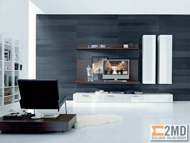 tv units modern living room other by 2md exclusive italian design. Black Bedroom Furniture Sets. Home Design Ideas