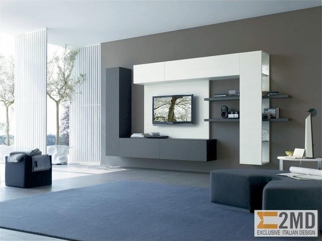 Tv units modern living room other metro by 2md for Modern tv shelf for living room