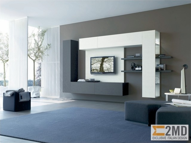 Living Room With Tv Unit tv units - modern - living room - other -2md exclusive italian