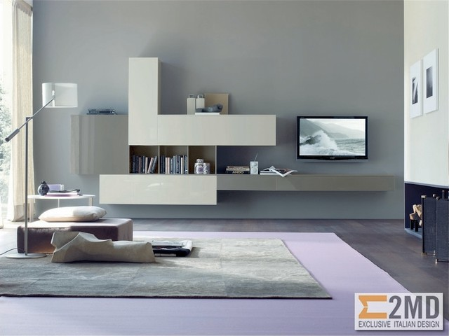 Tv units modern living room other by 2md exclusive for Italian living room ideas