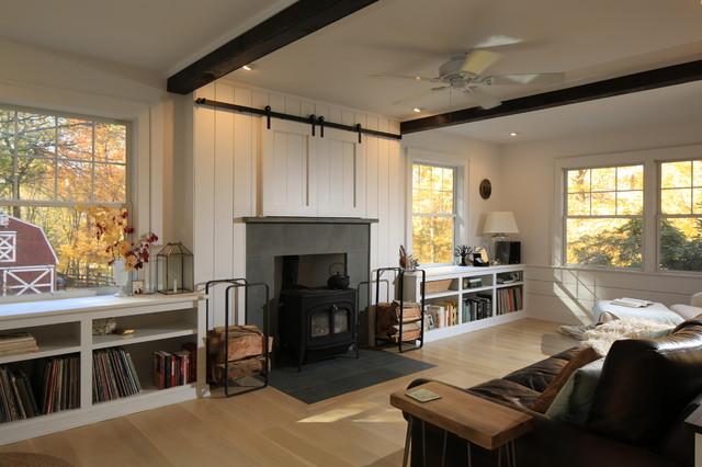 Twilight In Putnam transitional-living-room