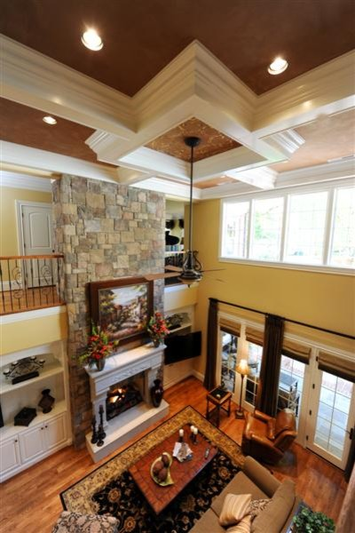 Two Story Family Room Traditional Living Other
