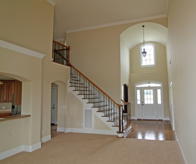 Traditional Foyer Questions : Two story foyer traditional living room raleigh by