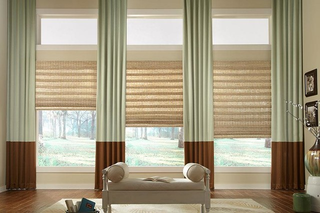 Two Story Seamed Curtains Draperies Of Indianapolis Custom Styles At Affordab Transitional