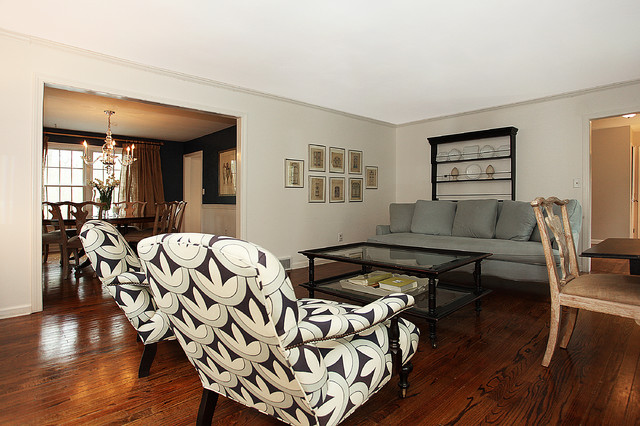 typical 1970's Colonial remodeld traditional-living-room